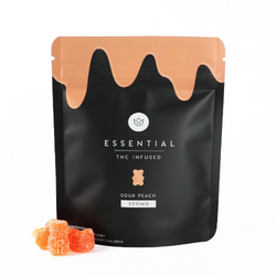"""ESSENTIAL - """"Sour Peach"""" THC Infused Gummies (300mg)"""