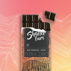 SATIVA - Shatter Bars (500mg) by Euphoria Extractions (Milk Chocolate) !SALE! Reg. $40