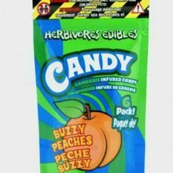 Herbivore Edibles - Buzzy Peaches Gummy 150mg THC