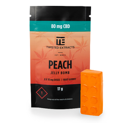 Twisted Extracts - Peach - 80mg CBD