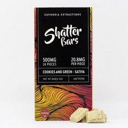 Cookies and Green Sativa 500mg Shatter Bar