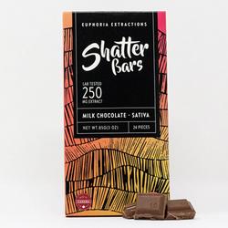Milk Chocolate Sativa 250mg Shatter Bar