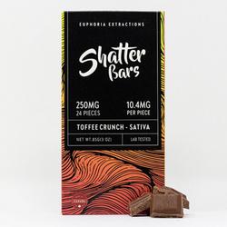 Toffee Crunch Sativa 250mg Shatter Bar