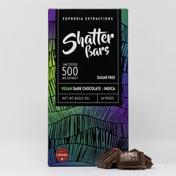 Vegan Dark Chocolate Indica 500mg Shatter Bar