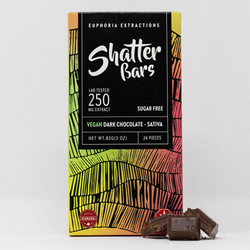 Vegan Dark Chocolate Sativa 250mg Shatter Bar