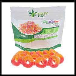 Sour Peach Rings SATIVA (480mg THC/40mg CBD)