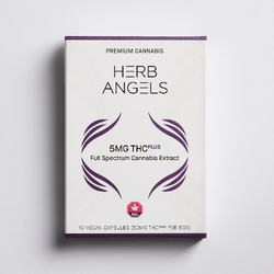 THC PLUS (made with RSO) 50mg (10x5mg) Capsules by Herb Angels