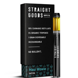 STRAIGHT GOODS 1 GRAM DISPOSABLE PEN *MAUI WOWIE*