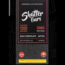 Milk Chocolate Indica 1200mg Shatter Bar $80