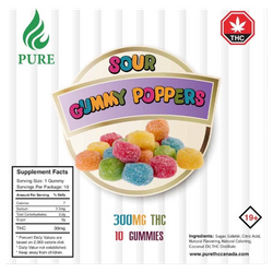 Sour Gummy Poppers 300mg