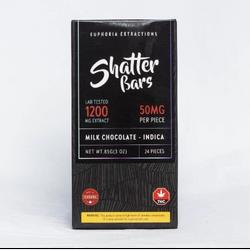 Euphoria Extractions - Shatter Bars Milk Chocolate - 1200mg Indica