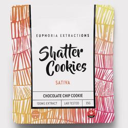 Euphoria Extractions - Shatter Cookies - 100mg Sativa