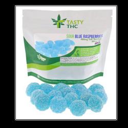 Sour Blue Raspberries (480mg/THC 10mg/CBD)