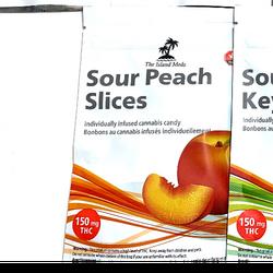 The Island Meds – Sour Gummies | Peach (150mg)