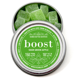 Boost THC Sour Green Apple Gummies - 150mg