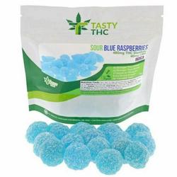 Tasty THC-Sour Blue Raspberries (480mg/THC 10mg/CBD)