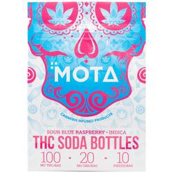 THC Blue Raspberry Soda Bottles - Mota (100mg)