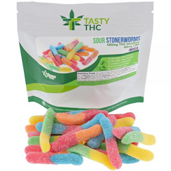 Tasty THC - Sour Stonerworms 480mg THC