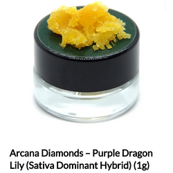 Arcana Diamonds – Purple Dragon Lily 1g-$55.00