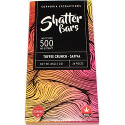 500mg Sativa Toffee Crunch Shatter Bar