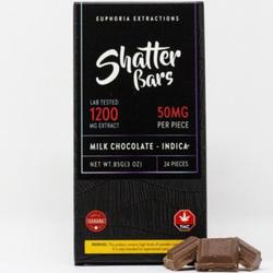 1200mg Indica  Milk Chocolate Shatter Bar