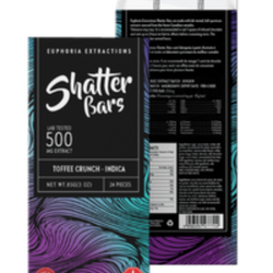 Toffee Crunch Indica 500mg Shatter Bar