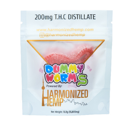 THC Dummy Worms- Strawberry Banana