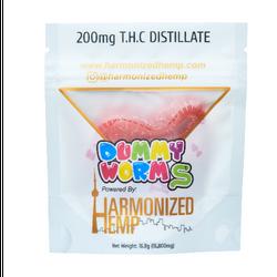 THC Dummy Worms- Strawberry Banana