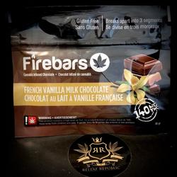 FRENCH VANILLA MILK CHOCOLATE – FIREBARS – 140MG
