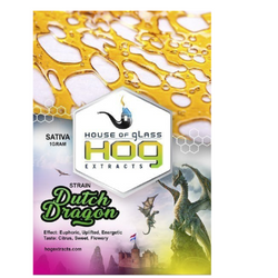 House of Glass (HOG) Extracts - Dutch Dragon Shatter (Sativa)