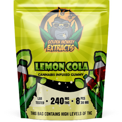 Golden Monkey THC Gummies - Lemon Cola