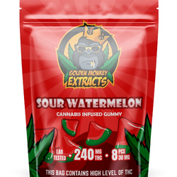 Golden Monkey THC Gummies - Watermelons