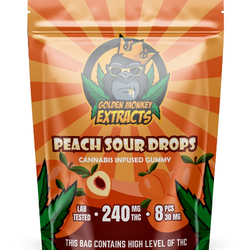 Golden Monkey THC Gummies - Peaches