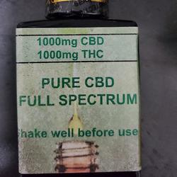 CBD/THC tincture 1000mg each