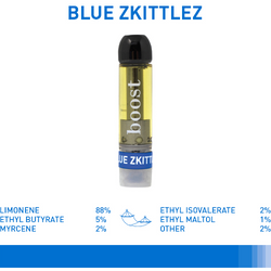 Boost THC Vape Cartridges - Blue Zkittlez (1g) 2 for $80