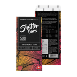 Toffee Crunch Sativa 500mg Shatter Bar [Euphoria Extracts]
