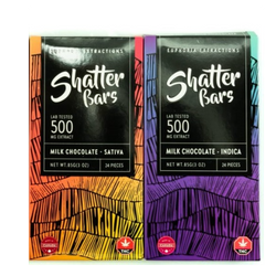 Euphoria Extractions Shatter Bars 500MG – Indica and Sativa