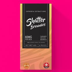 Euphoria Extractions - Shatter Brownies - 60mg Sativa