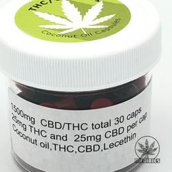 🌲🌲MEDIBLES🌲🌲   THC/CBD 1:1 Capsules    ◈1500mg