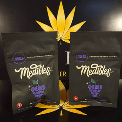 Sour Grape Gummies By Medibles 150 mg THC