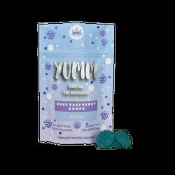 Yumm - BLUE RASPBERRY DROPS 500MG - Indica OR Sativa