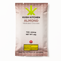 Almond & Milk Chocolate Bar - 200mg