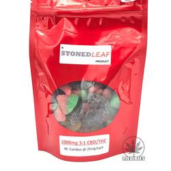 🌼🌻🌼3:1 CBD/THC🌼🌻🌼 Gummies  🌿Stoned Leaf   ◈1000mg