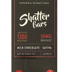 🙌 1200mg  🍫 Milk Chocolate SHATTER Bar 🍫     ◾Euphoria Extractions◾
