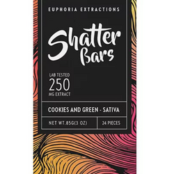 🍪🌿COOKIES AND GREEN🍪🌿   Sativa SHATTER Bar      ▪Euphoria Extractions▪     ◈250mg