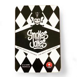 Prerolls 4 x 0.8g- Smokes and Jokes Lot #3411