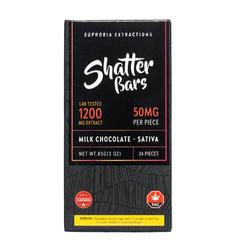 Shatter Bar Milk Chocolate Sativa 1200mg