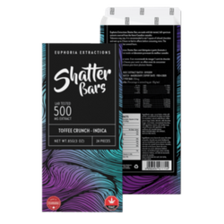 Shatter Bar Toffee Crunch Indica 500mg