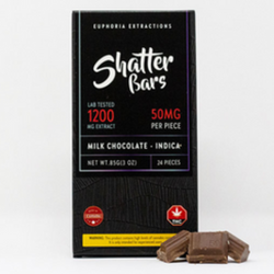 Eu4ia :: Milk Chocolate Indica 1200mg Shatter Bar