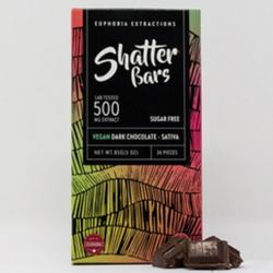 Eu4ia :: Vegan Dark Chocolate Sativa 500mg Shatter Bar